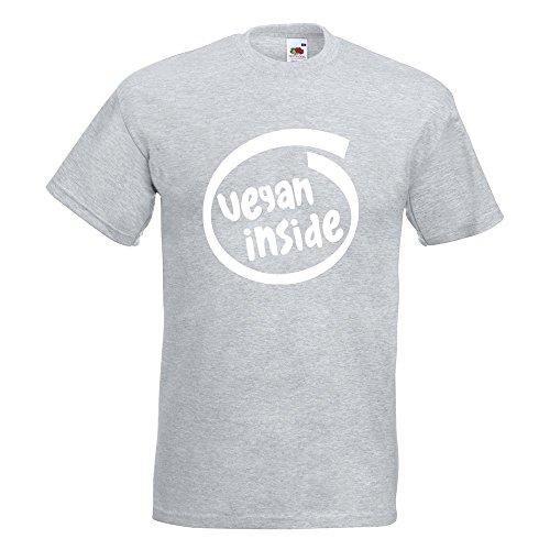KIWISTAR - vegan inside T-Shirt in 15 verschiedenen Farben - Herren Funshirt bedruckt Design Sprüche Spruch Motive Oberteil Baumwolle Print Größe S M L XL XXL Graumeliert