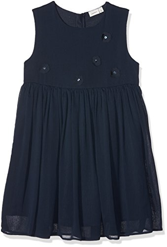 NAME IT Mädchen Kleid NKFIANNA SL Dress, Blau Dark Sapphire, 152