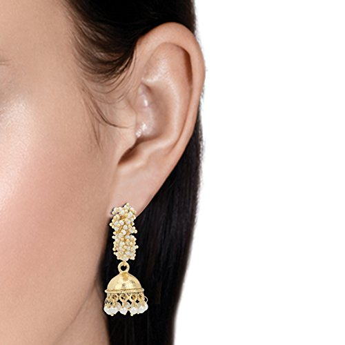 Stylepotion 22K Gold Plated Pearls Jhumki for Women