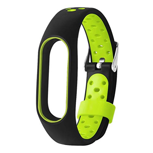 Correas xiaomi Band 2, ☀️ModaworldPulsera de TPE Ligera para Xiaomi Mi Band 2 Reemplazo de Pulsera Correa de Reloj Elegante Reemplazo de Repuesto (Verde)