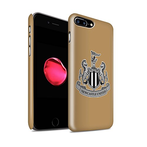 Offiziell Newcastle United FC Hülle / Matte Snap-On Case für Apple iPhone 7 Plus / Farbe/Gold Muster / NUFC Fußball Crest Kollektion Mono/Gold