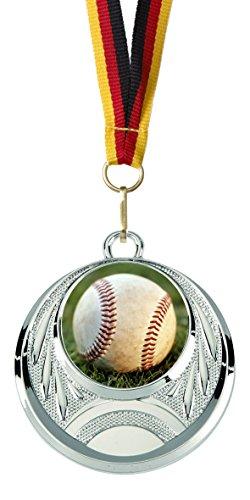 »Baseball«, mit 25 mm Sportfoto-Emblem (Folie, bunt) (Baseball-trophäen Für Kinder)