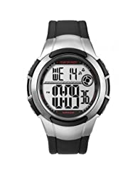 Timex Marathon Men's Digital Watch with LCD Dial Digital Display and Black Resin Strap T5K7704E