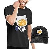 fghjfgdjhfd Camiseta de Manga Corta para Hombre,Octonaut Mens Funny T-Shirt and Baseball Cap Set, Short Sleeve T Shirt with Hat for Men Graphic Combination