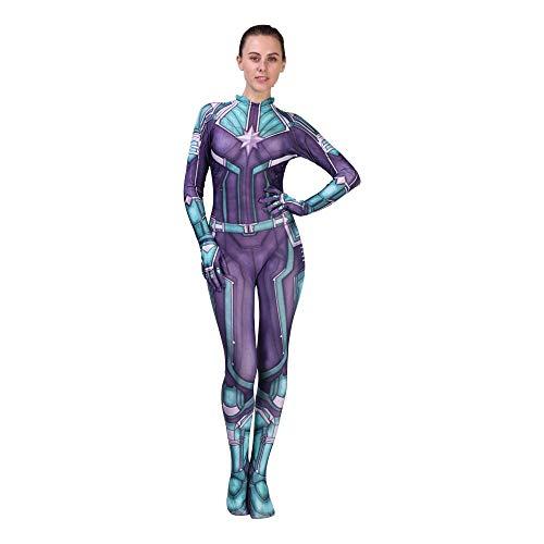 YXIAOL Überraschungskapitän, Avengers Cosplay Kostüm, Superheld Kostüm, Halloween Party Party Kostüm, 3D Style - Kinder/Erwachsene,GreenAdult-XXXL (Captain Marvel Kostüm Schwarz)