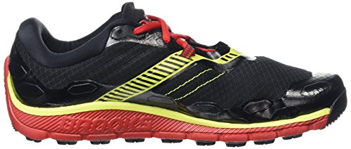 BrooksPuregrit 5 - Scarpe Running uomo Multicolore (Black/High Risk Red/Nightlife)