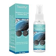 TOULIFLY Spray Imperméable,Spray Waterproof,Spray Imperméabilisant Chaussure,Pour Sacs à Dos,Chaussures,Bottes,Daim,Cuir,Toile,Fibres Synthétiques et Tissu