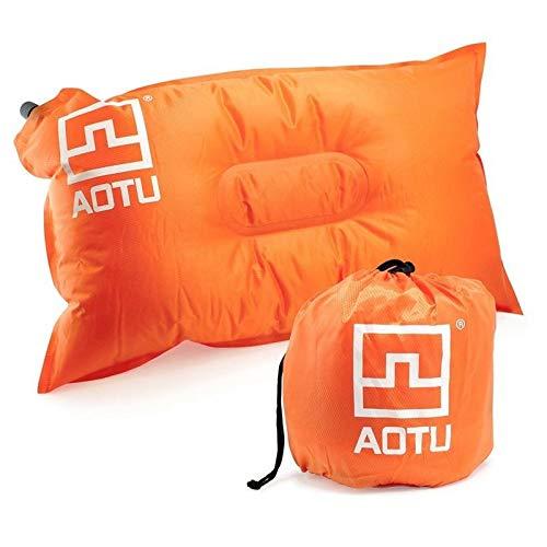 Sruma - bewegliche automatischen Schnell aufblasbare Kissen Outdoor-Camping-Zelt-Luftkissen Nacken Camping Schlafen Gang orange