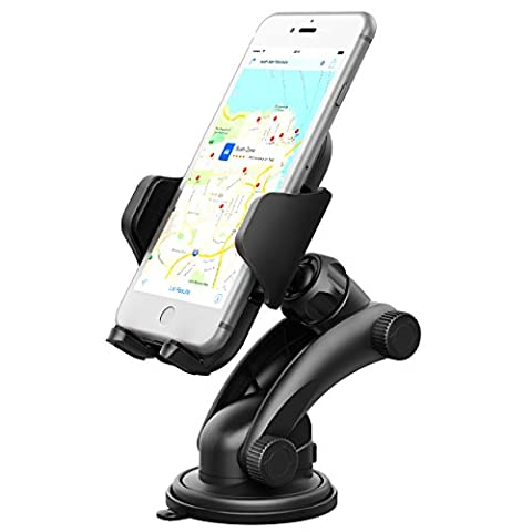 Phone Holder for Car, Mpow Grip Pro 2 Dashboard Car Phone Holder Universal Phone Mount Adjustable Phone Cradle with Strong Sticky Gel Pad for iPhone 7 7 Plus 6S 5 Samsung S8 HTC LG and Other Cellphone