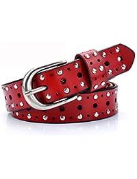 Easy Go Shopping Cinturón de Mujer Cinturón de Cuero Vintage Cinturón  Decorativo Cinturón Joker Informal cinturón d3089f9d36e0