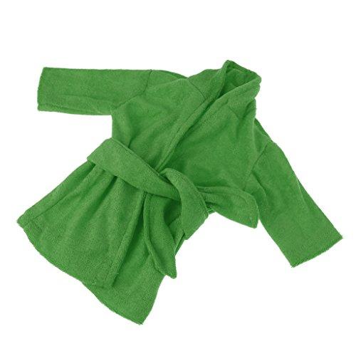 Homyl Mini Puppen Pyjamas Bademantel Morgenmantel Kleidung für 43-45 cm Puppe - Grün