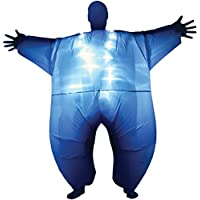 Disfraz inflable luminoso MorphCostumes MCLUMBL, talla única, color azul