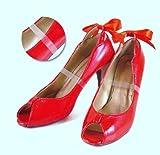 2 paia di solette interne trasparenti per scarpe da donna col tacco, con cinturino invisibile
