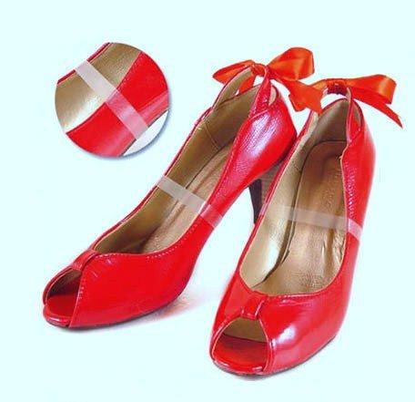 Haltebänder für Damenschuhe, geeignet für High Heels, Pantoletten, Slipper etc., Transparent, 4 Stück (2 Paar) -