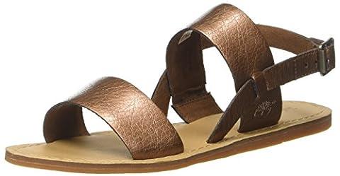 Timberland Carolista Slingbackcopper Metallic, Sandales Compensées Femme, Marron (Copper Metallic),