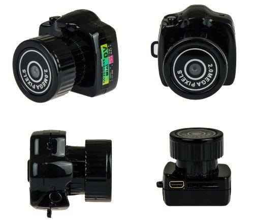 Mini Camcorder Y2000 Version 2.0 Mini Videokamera kleine Digitalkamera mit 2.0 Megapixel Auflösung, 1600 * 1200 Pixel für Bilder und 640 * 480 Pixel für Videos, Spionagekamera, Spy Camera von Kobert - Goods Spy Wlan-camcorder