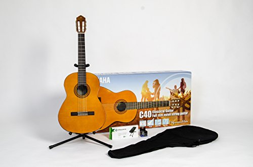 Yamaha C40 Performance Pack chitarra acustica set