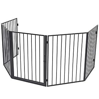 binzhoueushopping barrera de protección para chimenea estufa de acero Negro barreras protectoras barrera chimenea pantalla chimenea