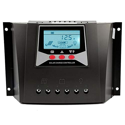 Y&H 60A Solarladeregler 12V/24V/36V/48V Auto Max.100V PV Eingang Batterieladegerät Regler mit Hintergrundbeleuchtung LCD,Temperaturkompensation WP6048D - 36v Controller Solar Charge