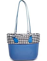 O bag B001_026, Borsa a Mano Donna, Multicolore (Cobalto), 14x31x39 cm (W x H x L)