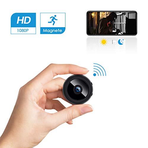 Verbergen Sahne (Mini Kamera Überwachungskamera WLAN HD 1080p,FREDI Tragbare WiFi IP Kamera mit Bewegungsmelder/Mikrofon/Videoaufzeichnung/für iPhone/Android/iPad)