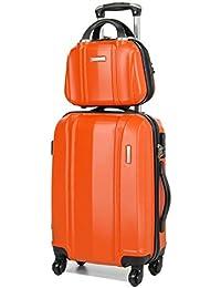 Ensemble valise 54 cm et vanity 29 cm MADISSON 60002 Orange