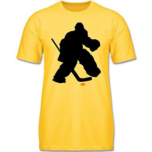 Sport Kind - Eishockeytorwart Towart Eishockey - 140 (9-11 Jahre) - Gelb - F140K - Jungen T-Shirt
