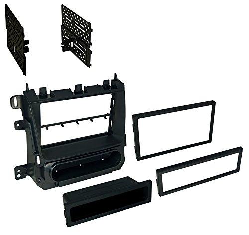 Kit bkgmk3272015Chev Tahoe/Suburban & GMC XL Single DIN ISO Pocket oder DB DIN Metallic Schwarz -