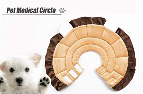 Pet Medical Circle, Kosmetische Chirurgie Erholung Anzug Lion Shape Cartoon Kreis, Hundehalsband Anti-Kratz-Schutz-Ring Für Katzen und Hunde (4 Größen),S