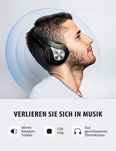 Mpow Bluetooth Kopfhörer Over Ear, [Bis zu 20 Std] Kabellose Kopfhoerer mit Hi-Fi Stereo mit Dual 40mm Treiber, CVC 6.0 Noise Canceling für Integriertem Mikrofon Freisprechen - 2