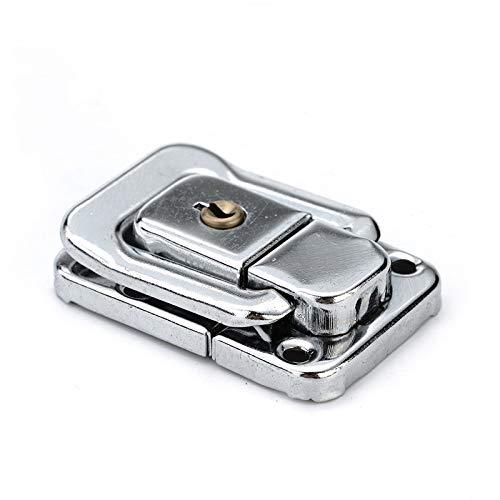 J402 Cabinet Box Square Lock Mit Schlüsselfeder Latch Catch Toggle Locks Flussstahl Haspe Für Schiebetür Fenster Hardware