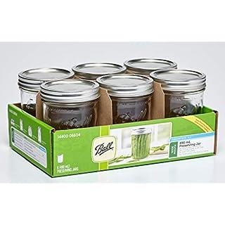 Ball Mason Jars Ball Mason Glass Preserving Homemade Jam Jars, Pack of 6, 490 ml