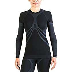 Xaed Camiseta Termica Interior, Mujer, Negro/Gris, S