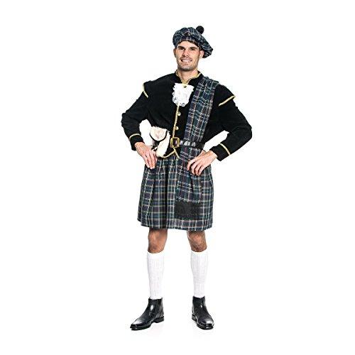 Kostümplanet® Schotten-Kostüm Herren Größe 48/50 (Schotte Kostüm)