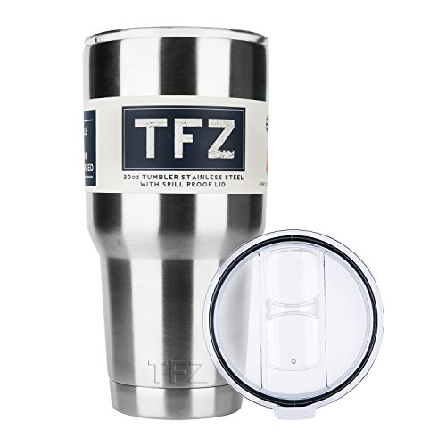 30oz Travel Tumbler Stainless Steel Coffee Mug with Spill Proof Lid - Large Capacity Cup and Keeps Hot & Cold (30oz)