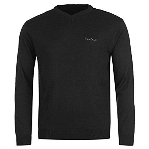 Pierre Cardin - Sweat Pull Col V Homme Taille M (Correspond À Du L) - Noir