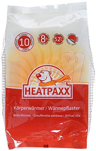 HeatPaxx Körperwärmer - Dünne Wärmepflaster für punktgenaue Wohlfühlwärme - 10 x 1 Wärmespender im praktischen Vorteilspack