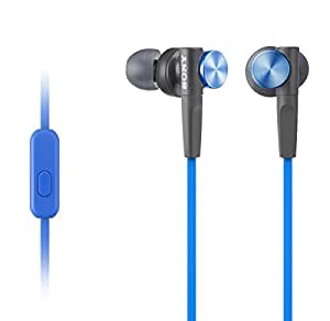 Sony MDR-XB50AP In-Ear Extra Bass Headphones with In-Line Control - Blue