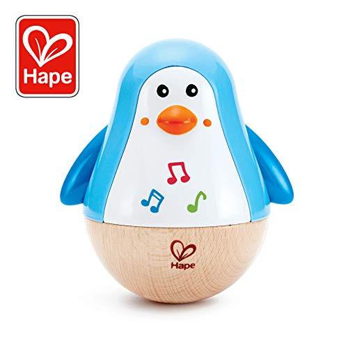 Hape- Instrument de Musique en Bois Premier Age-Pingouin Culbuto, E0331