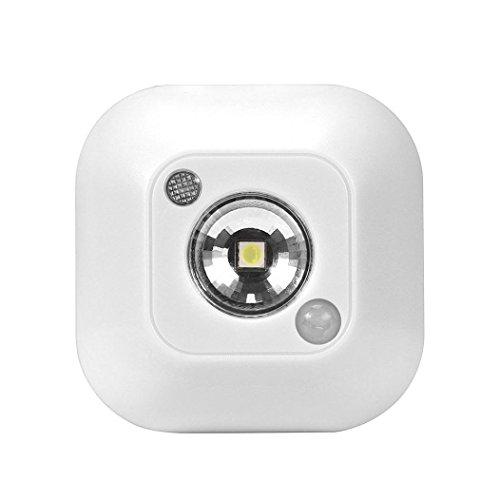 Drahtlose LED-Sensorlicht,Jaminy Lichtsensor Mini LED funky Nachtlicht Motion Sensor Licht Wand not Nacht Lampe Super Empfindlichkeit innerhalb von 3 Meter Entfernung [Energieklasse A+] (Weiß)