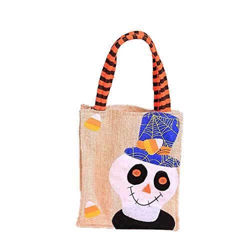 Vektenxi Halloween Kinder Kinder Süßes oder Saures Cartoon Beutel Tasche Candy Geschenk Handtasche 2 Langlebig und nützlich