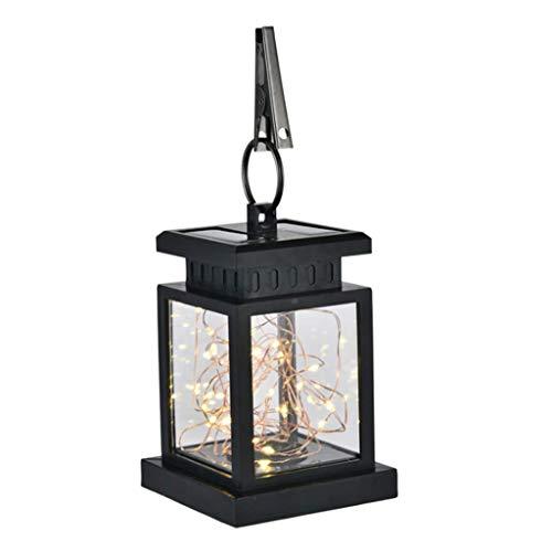 ZOOVQI LED Lichterketten Solar Farbe Gartendekoration Romantisches Zuhause Outdoor Dekoration Flamme Lichter Sterne Lichter Garten Garten Lichter