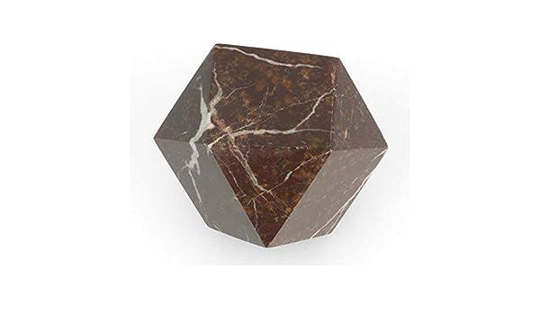 Colore: Nero e Bianco onice Marrone Serafino onice Marmo Fermacarte in Marmo dellHimalaya con Taglio a Diamante 5 cm Marmo Marrone
