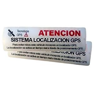 instalar gps: ★★★★ 2 Pegatinas disuasorias ★ Interior cristal localizador GPS vehiculos. Aviso...