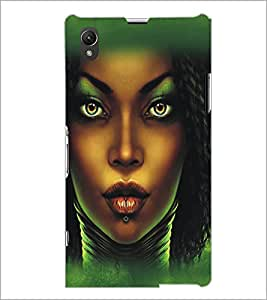 PrintDhaba Dusky Beauty D-5435 Back Case Cover for SONY XPERIA Z1 (Multi-Coloured)
