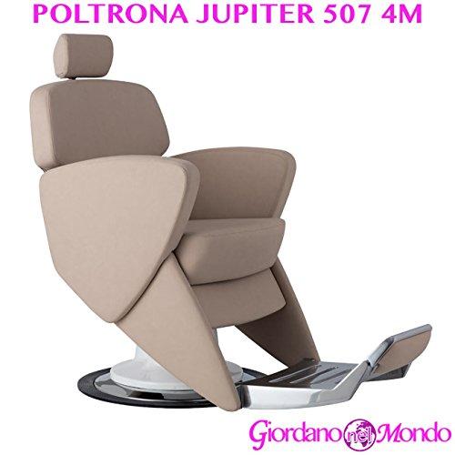 Poltrona barbiere con schienale reclinabile e girevole sedia jupiter 507 arredamento ceriotti