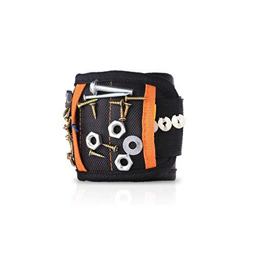TAMAYKIM 15 Kraftvolle Magnete Magnetische Armbänder, Handsfree Wrist Band Strap Halter Pickup Carry Kit zum Halten von bis zu 1.2 kg Kleine Werkzeuge, Schrauben, Nägel, Bohrer, Geschenke für DIY Handwerker
