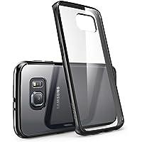 Samsung Galaxy S6 EDGE Hülle, i-Blason [Halo Serie] Case, transparente kratzfeste Schutzhülle / Cover (Transparent/Schwarz)