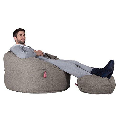 LOUNGE PUG®, Riesen Sitzsack C500-L, CloudSac Latexflocken-Mischung, Relaxsessel, Interalli Wolle Silber