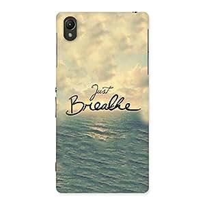 Cute Just Breath Multicolor Back Case Cover for Sony Xperia Z2